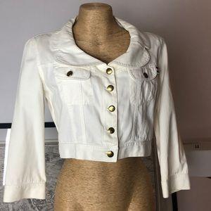 Moschino cream denim crop jacket size 4